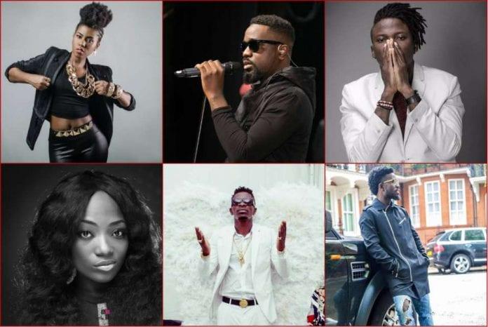 top ten most influential musicians in Ghana.