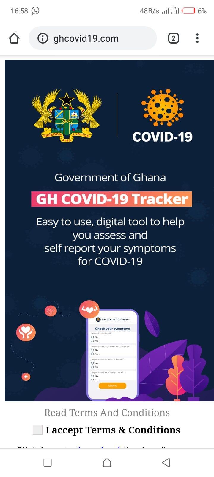 Gh Covid19 Tracker app