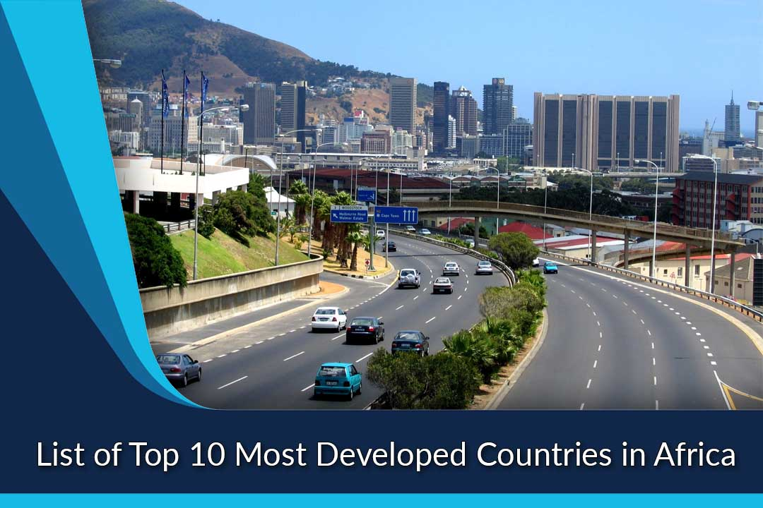 most developed countries in Africa