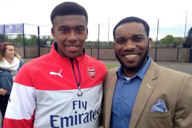 Iwobi with his Uncle Okocha