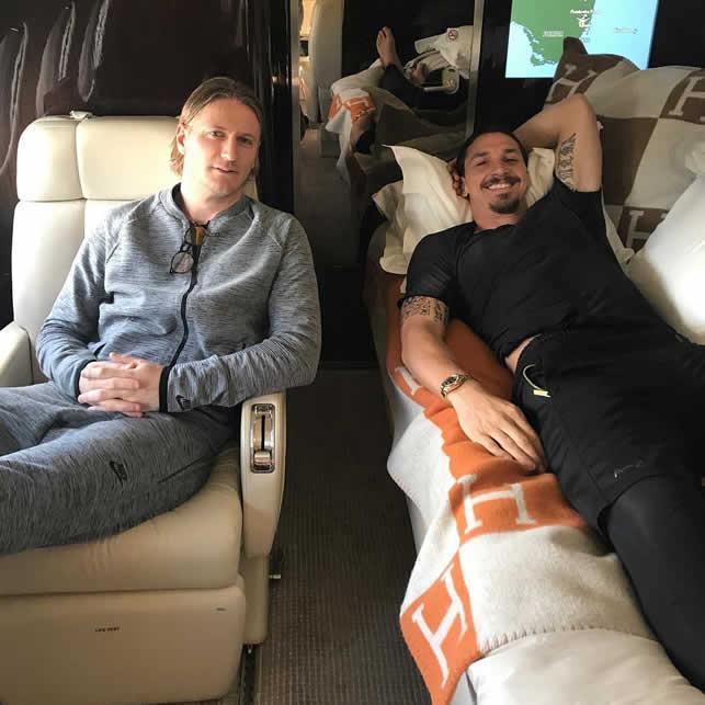 Ibrahimovic private jet