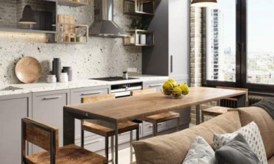 Kitchen in a studio apartment