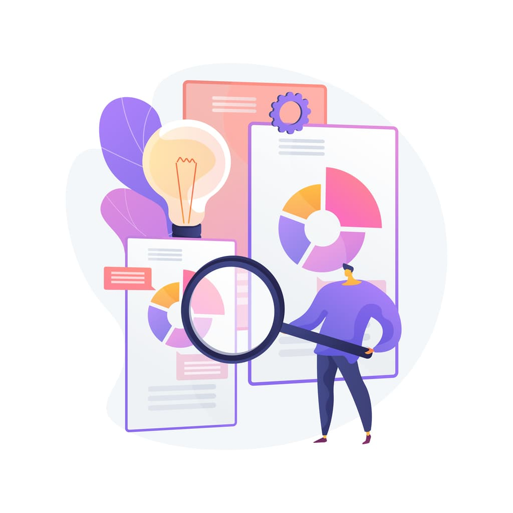 Competitive intelligence abstract concept vector illustration.