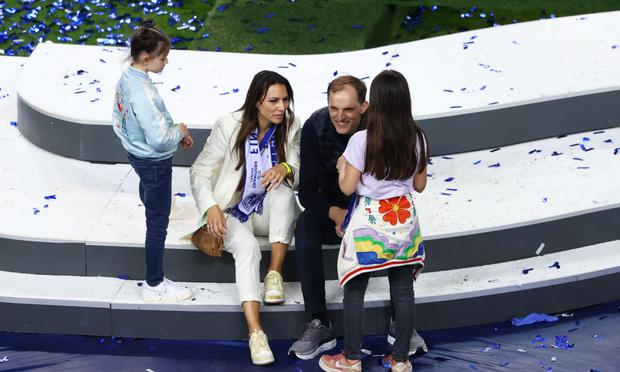 Thomas Tuchel net worth. TT with his wife and children